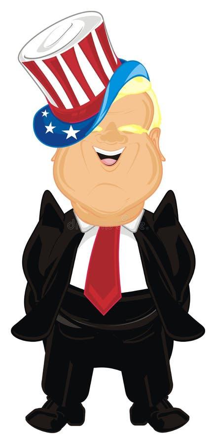Donald Trump en sombrero ilustración del vector