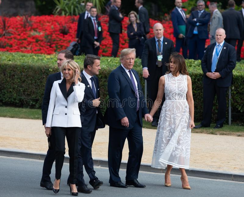 Donald Trump et Melania Trump au sommet d'OTAN images stock