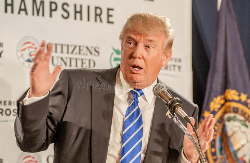 Donald Trump gestures royalty free stock image
