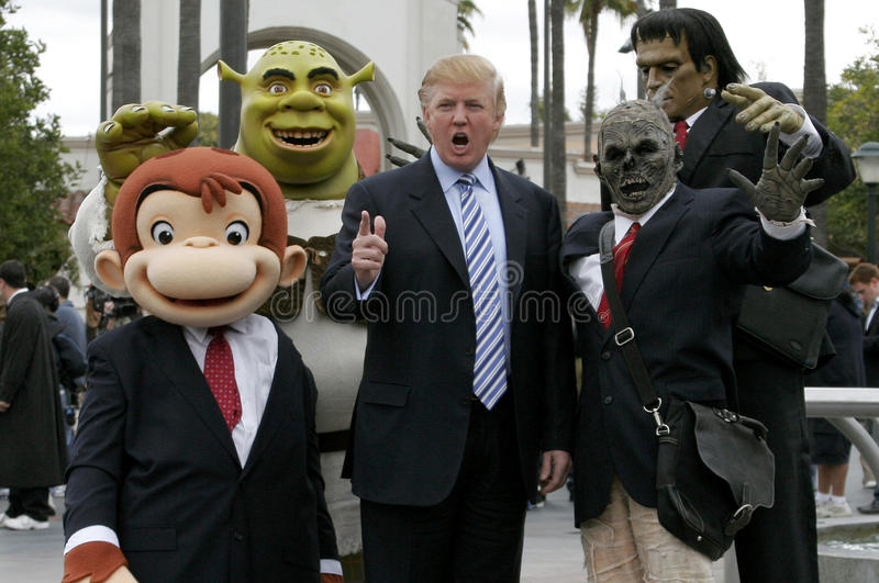 Donald Trump. 03/10/2006 - Hollywood - Donald Trump kicks off the sixth season casting call search for THE APPRENTICE held at the Universal Studios in Hollywood royalty free stock photo