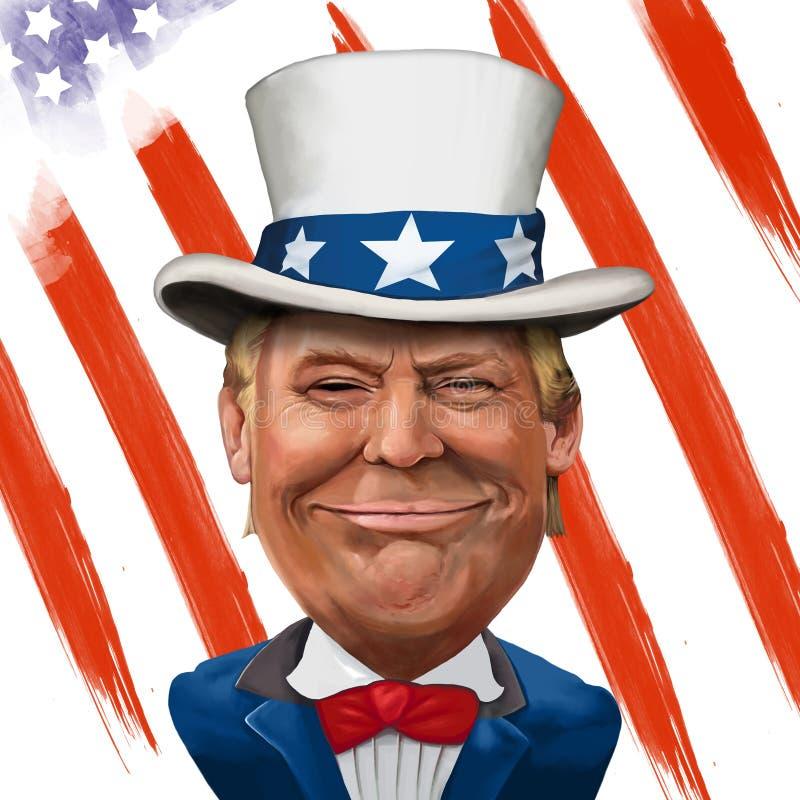 Donald Trump Illustration ilustração stock