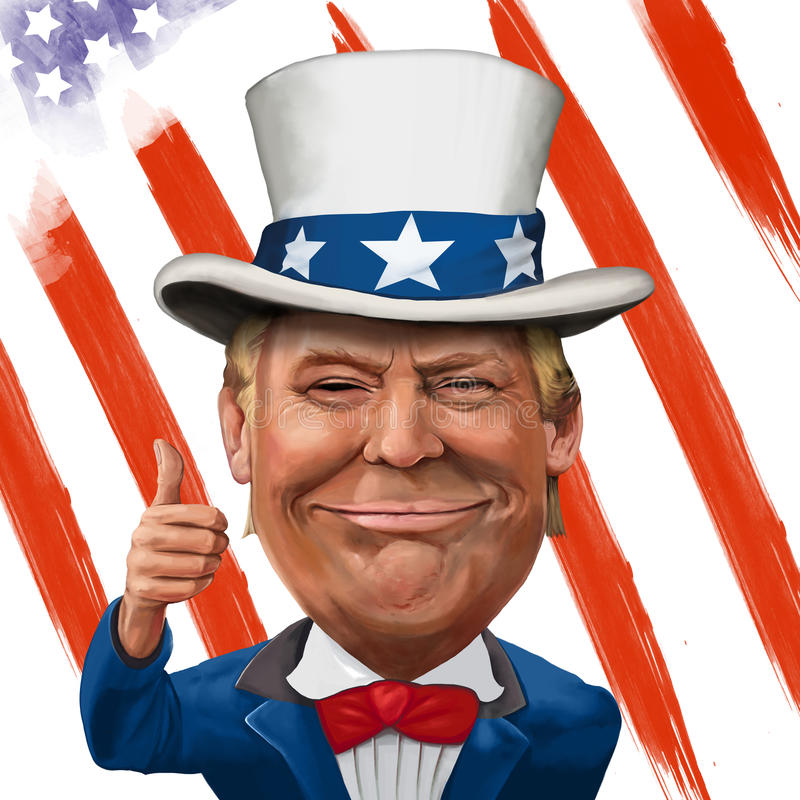 Donald Trump Illustration vector illustratie