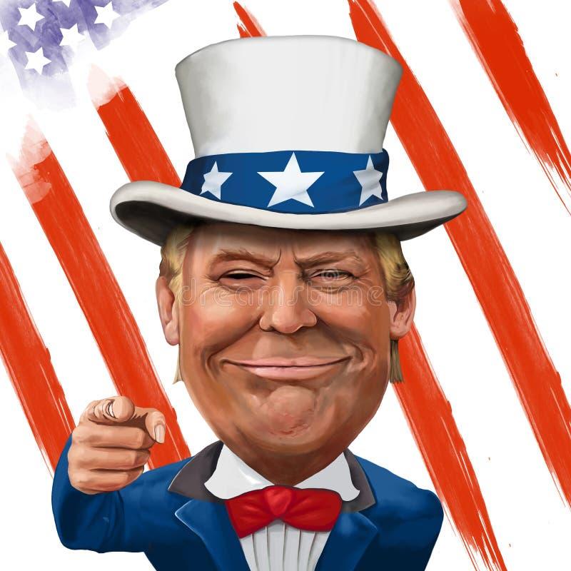 Donald Trump Illustration ilustração royalty free