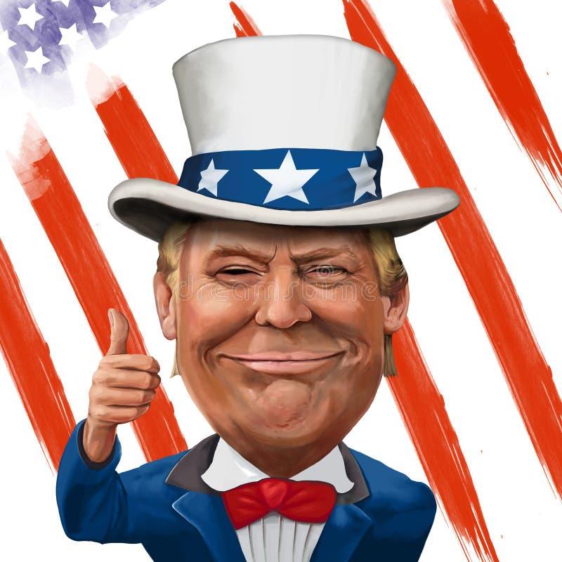 Donald Trump Illustration vector illustration