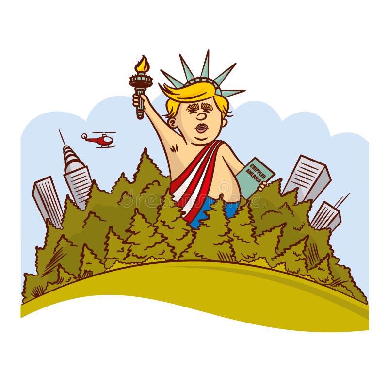 Donald Trump Image Statue da liberdade ilustração royalty free