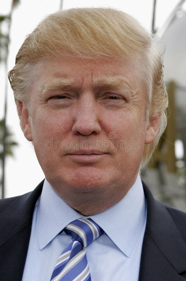 Donald Trump. Kicks off the sixth season casting call search for THE APPRENTICE held in the Universal Studios Hollywood, California on March 10, 2006 royalty free stock photo