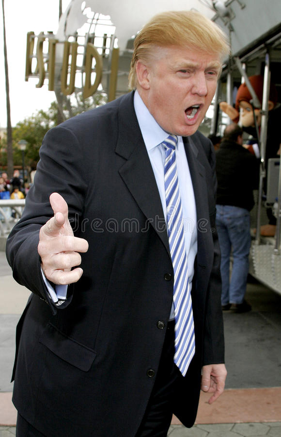 Donald Trump. Kicks off the sixth season casting call search for THE APPRENTICE held in the Universal Studios Hollywood, California on March 10, 2006 royalty free stock photos