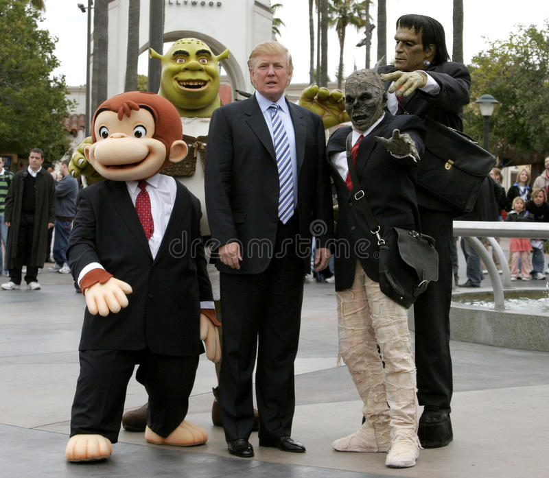 Donald Trump. Kicks off the sixth season casting call search for THE APPRENTICE held in the Universal Studios Hollywood, California on March 10, 2006 stock photo