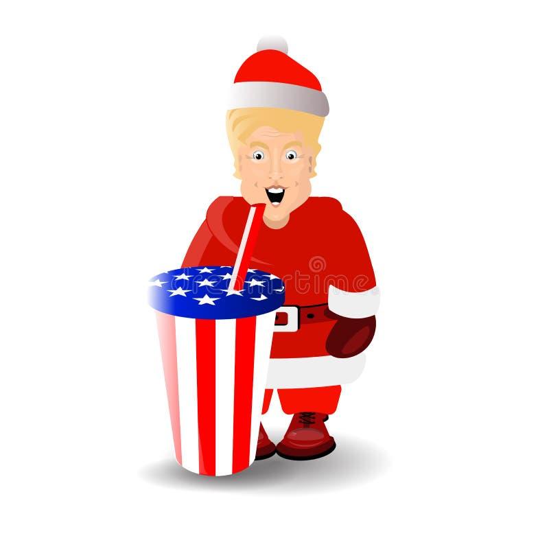 Donald Trump na imagem de Santa Claus ilustração stock