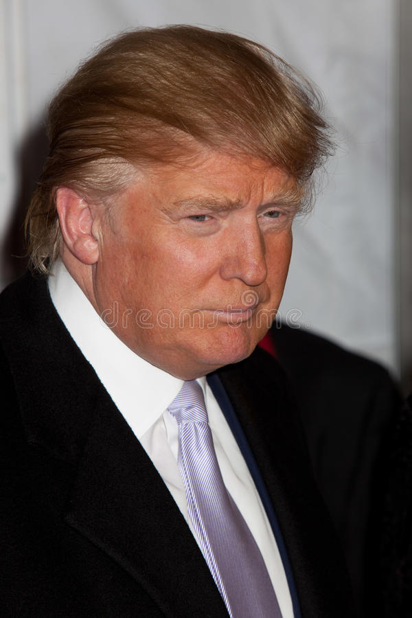 Donald Trump. NEW YORK, NY - APRIL 16: Donald Trump attend at ``Nine`` New York Premiere at the Ziegfeld Theatre on December 15, 2009 in New York City royalty free stock photos