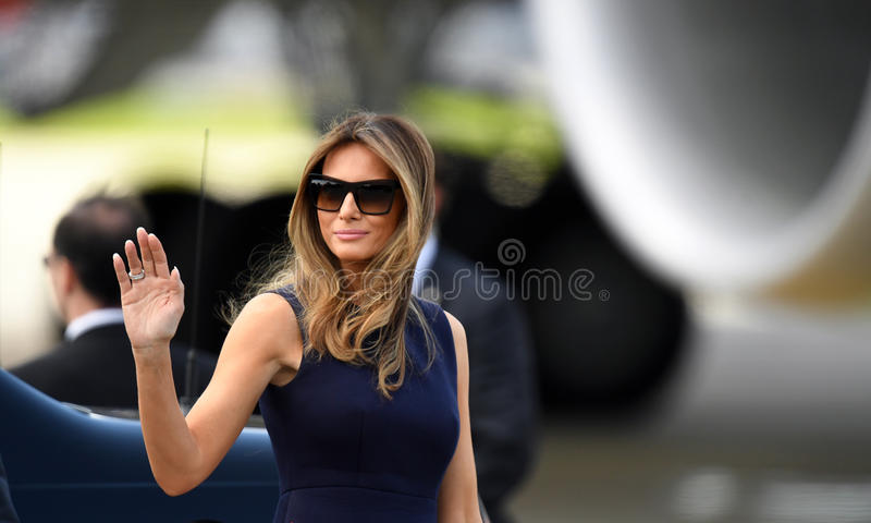 Donald Trump och Melania trumf royaltyfri bild