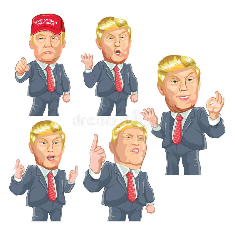 Donald trump pack stock illustration