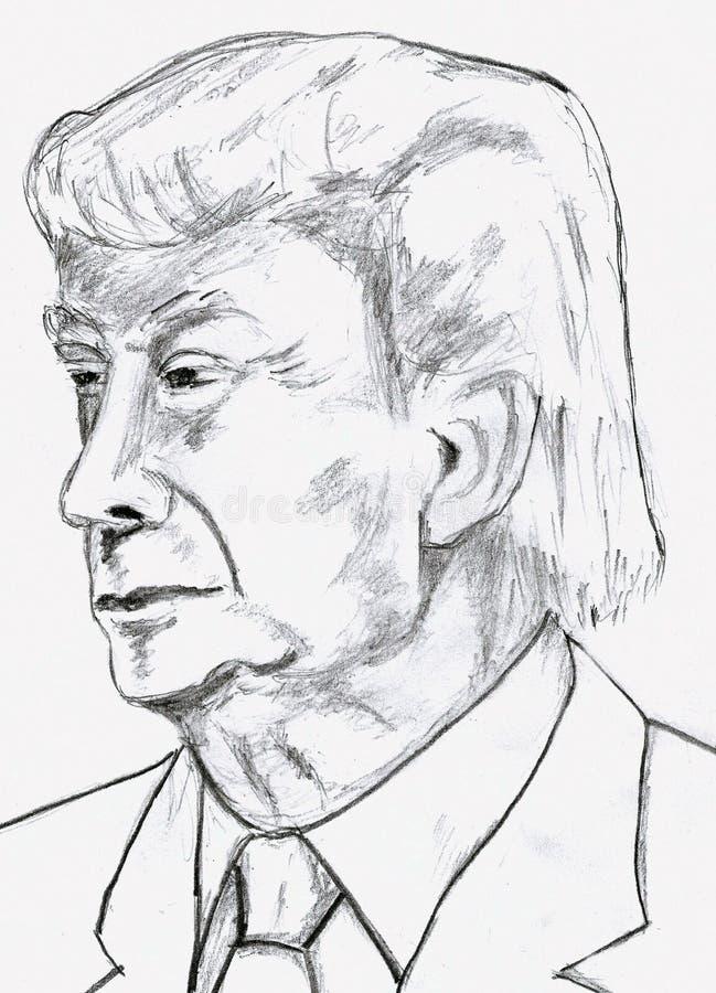 Donald Trump Pencil Sketch photo libre de droits