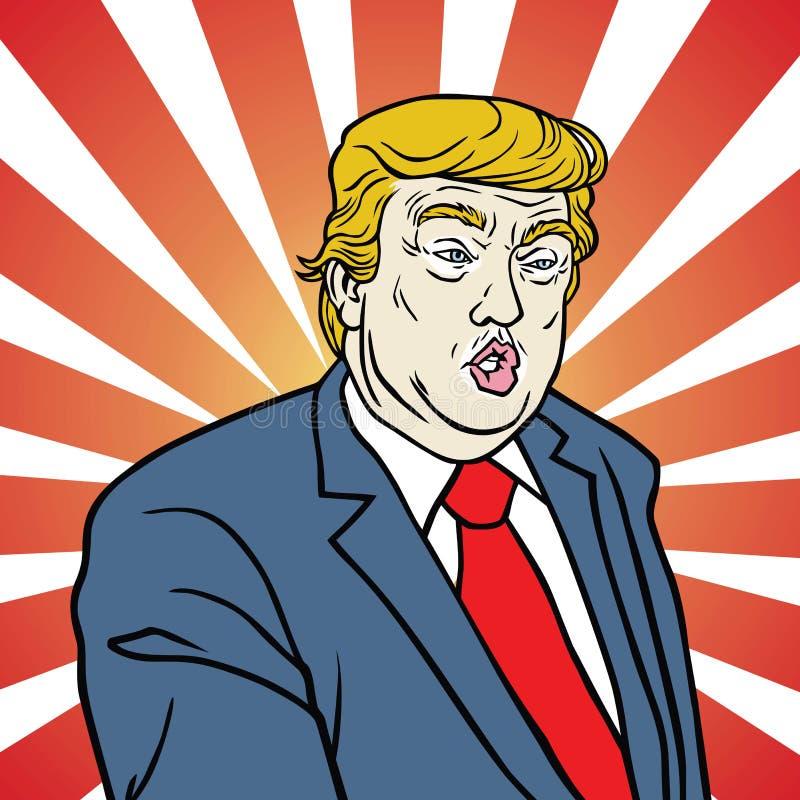 Donald Trump Pop Art Poster ilustração do vetor