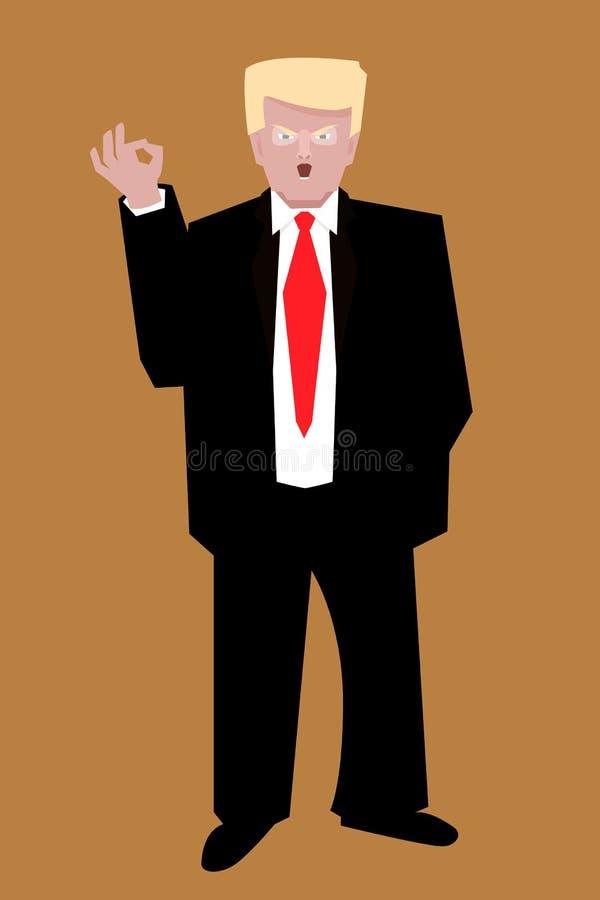 Donald trump portrait vector cartoon vector illustration