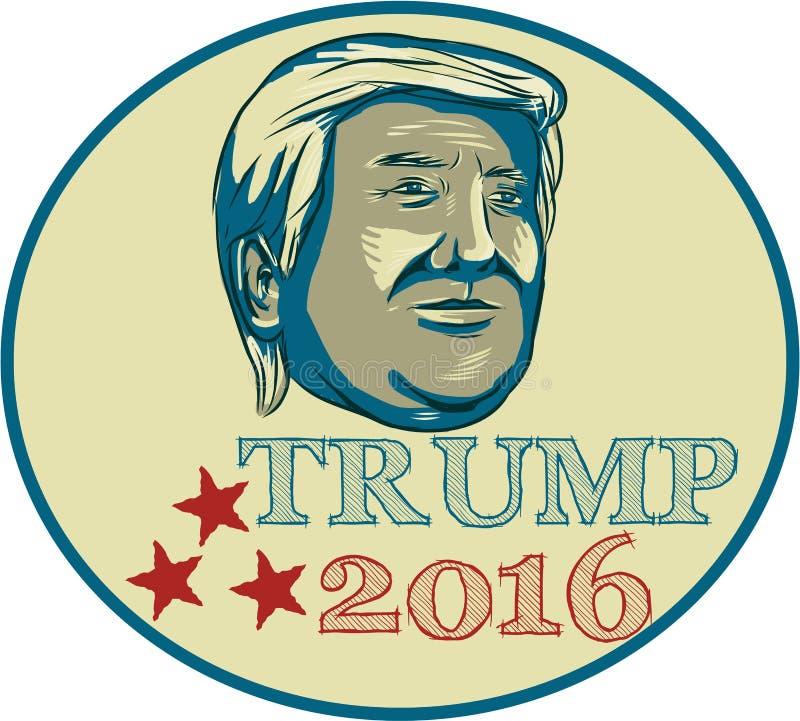 Donald Trump President 2016 Oval stock illustration