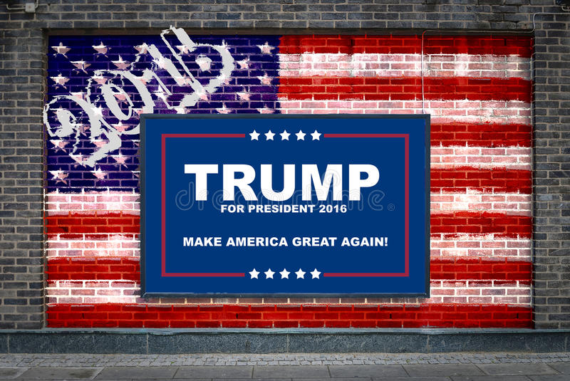 c950938bcf4b Donald Trump Hillary Clinton Campaign Poster Set Donald Trump Campaign  Poster: Donald Trump For President Editorial Stock Image