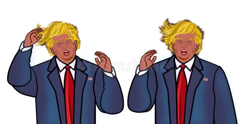 Donald Trump. President of United states of america illustration isolated stock illustration