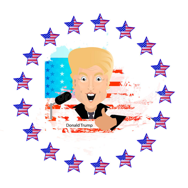 Donald Trump President of the United States royalty free illustration