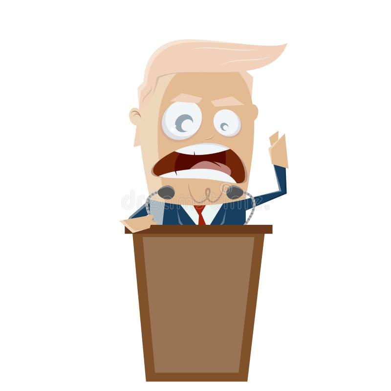 Donald Trump que dá um editorial de agitação do discurso ilustração royalty free