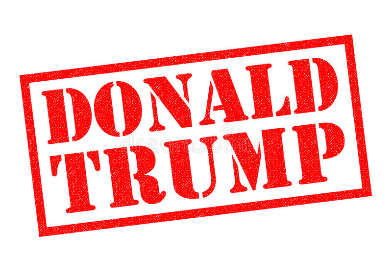DONALD TRUMP Rubber Stamp. LONDON, UK - 11TH OCTOBER 2016: A DONALD TRUMP red Rubber Stamp over a plain white background, on 11th October 2016 vector illustration