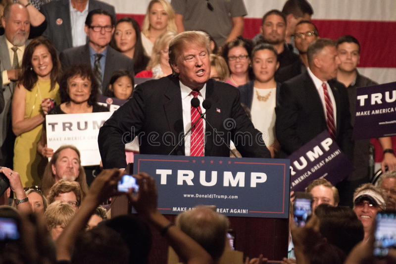 Donald Trump's first Presidential campaign rally in Phoenix. Donald Trump held his first campaign rally, since announcing his Republican candidacy for President royalty free stock photography