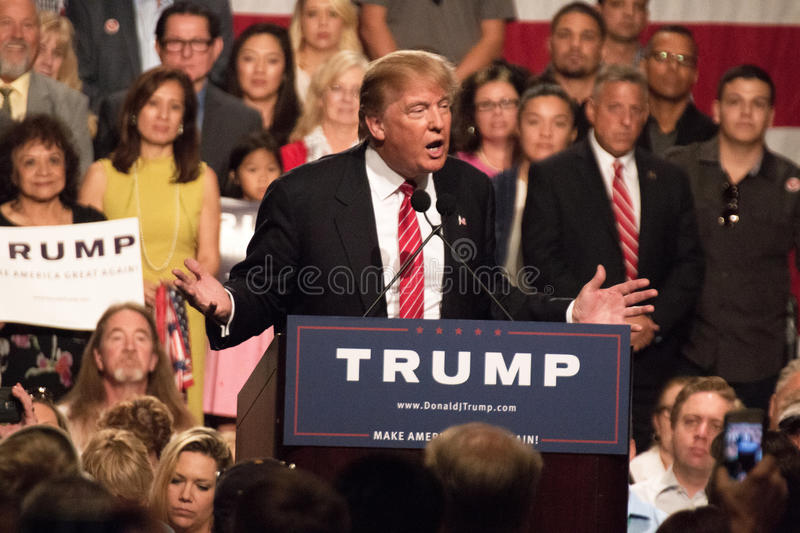 Donald Trumps first Presidential campaign rally in Phoenix royalty free stock image