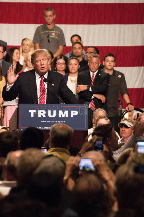 Donald Trump's first Presidential campaign rally in Phoenix royalty free stock photos