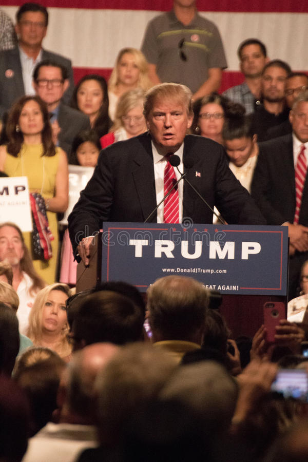 Donald Trumps first Presidential campaign rally in Phoenix. Donald Trump held his first campaign rally, since announcing his Republican candidacy for President stock images