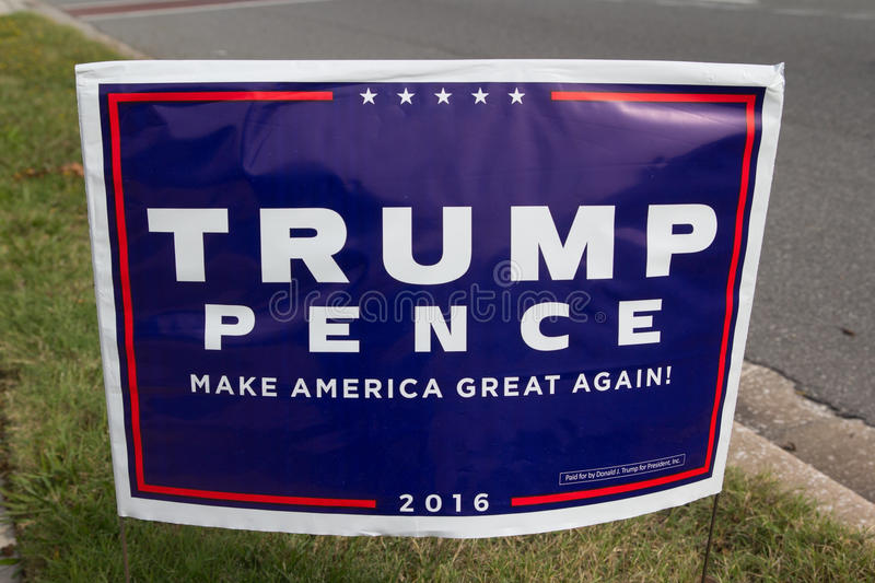 Donald Trump Sign arkivbilder