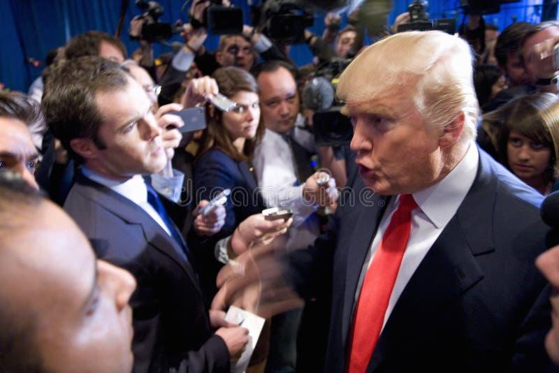 Donald Trump speaks royalty free stock photo