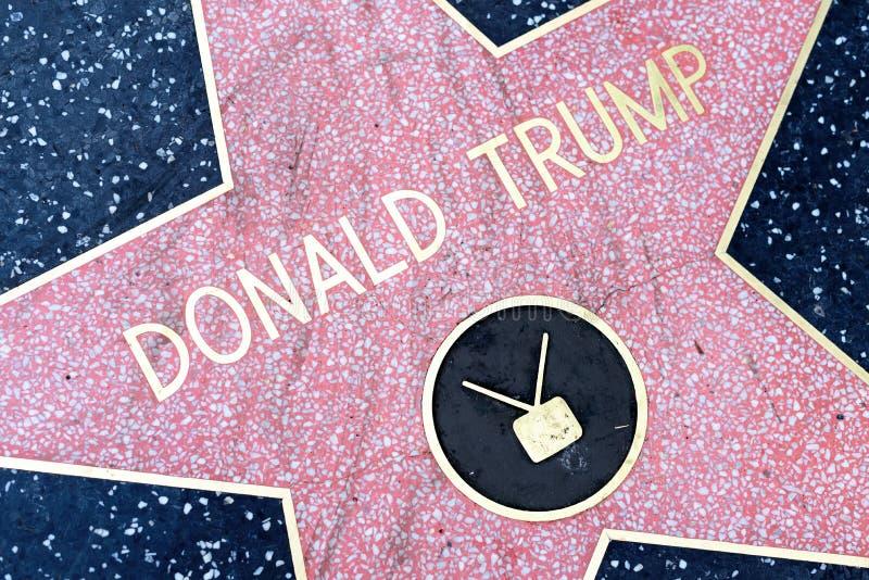 Donald Trump-ster op de Hollywood-Gang van Bekendheid royalty-vrije stock afbeelding