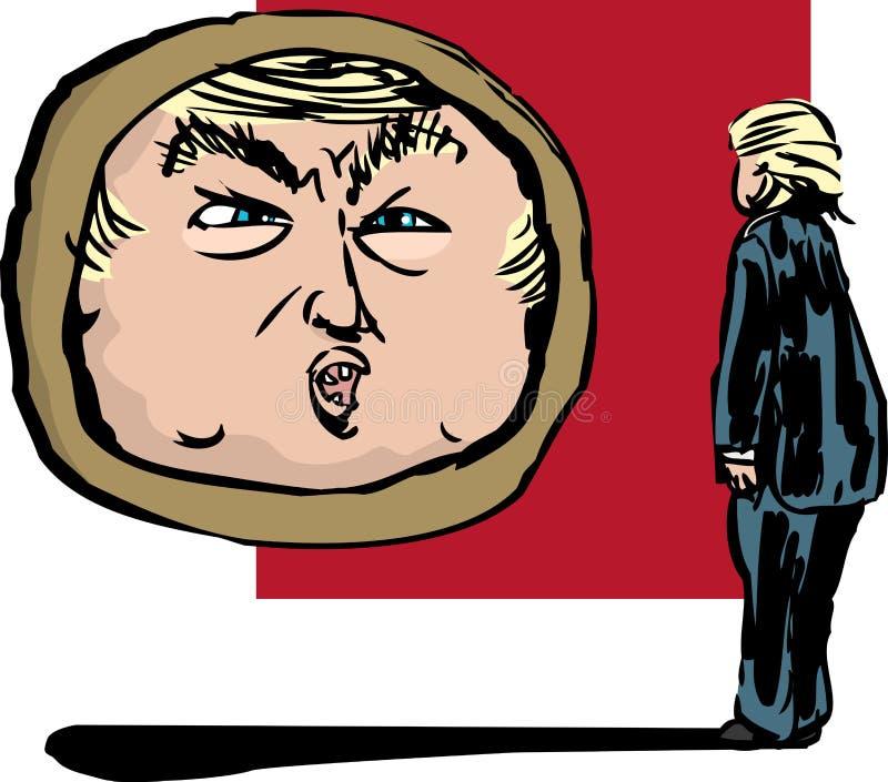 Donald Trump Talking a se stesso in specchio