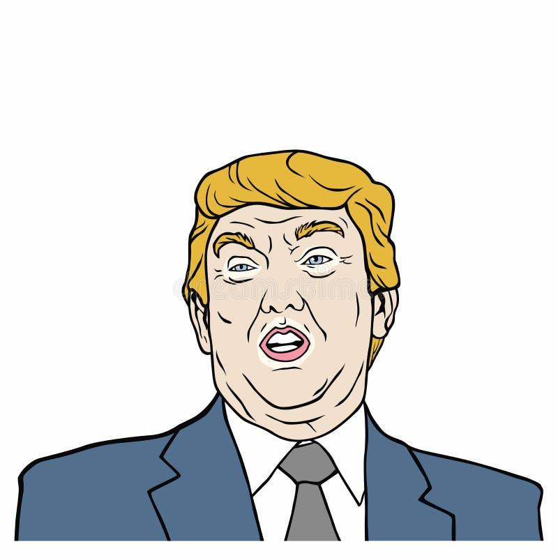 Donald Trump, 45th presidente da ilustração do projeto do vetor do Estados Unidos da América ilustração royalty free