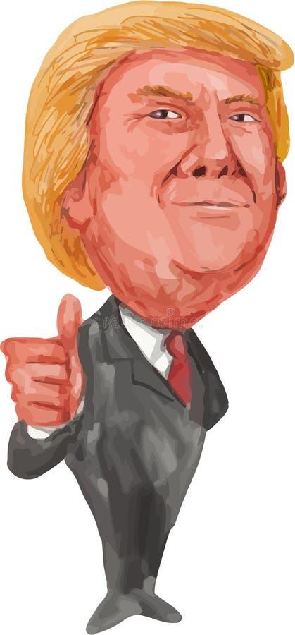 Donald Trump Thumbs Up President 2016 royalty free illustration