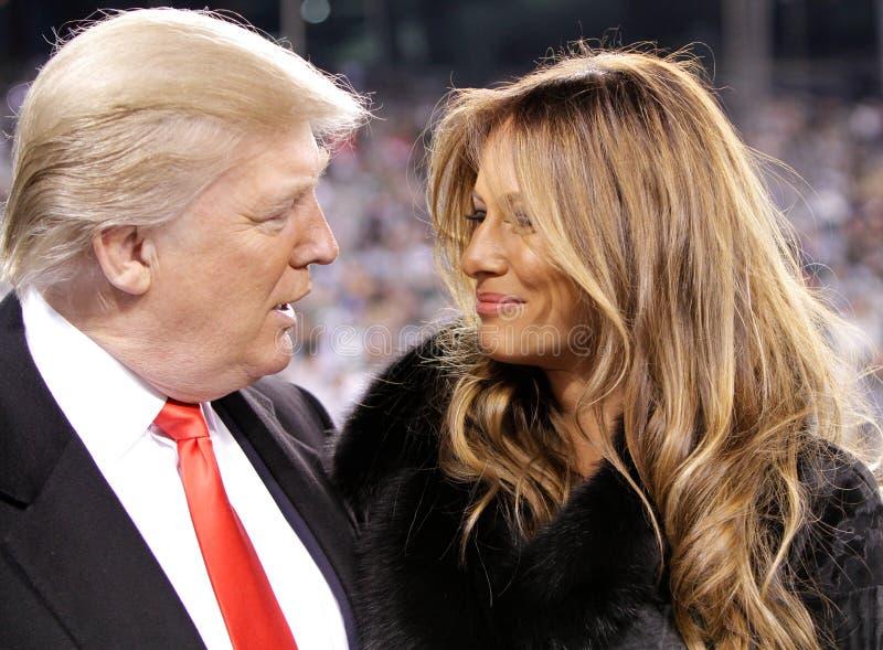 Donald Trump, triunfo de Melania imagen de archivo