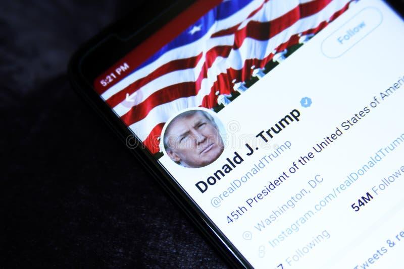 Donald Trump Twitter images libres de droits