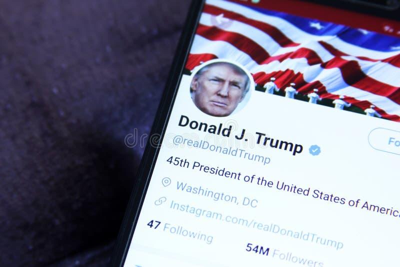 Donald Trump Twitter fotografia stock