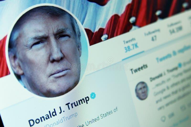 Donald Trump Twitter photographie stock