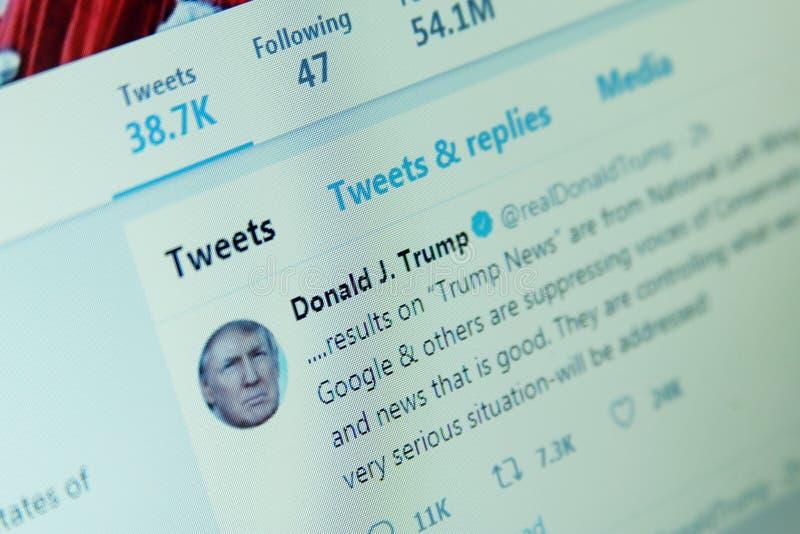 Donald Trump Twitter photographie stock libre de droits