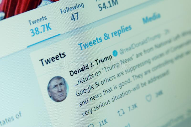 Donald Trump twitter royalty free stock photography