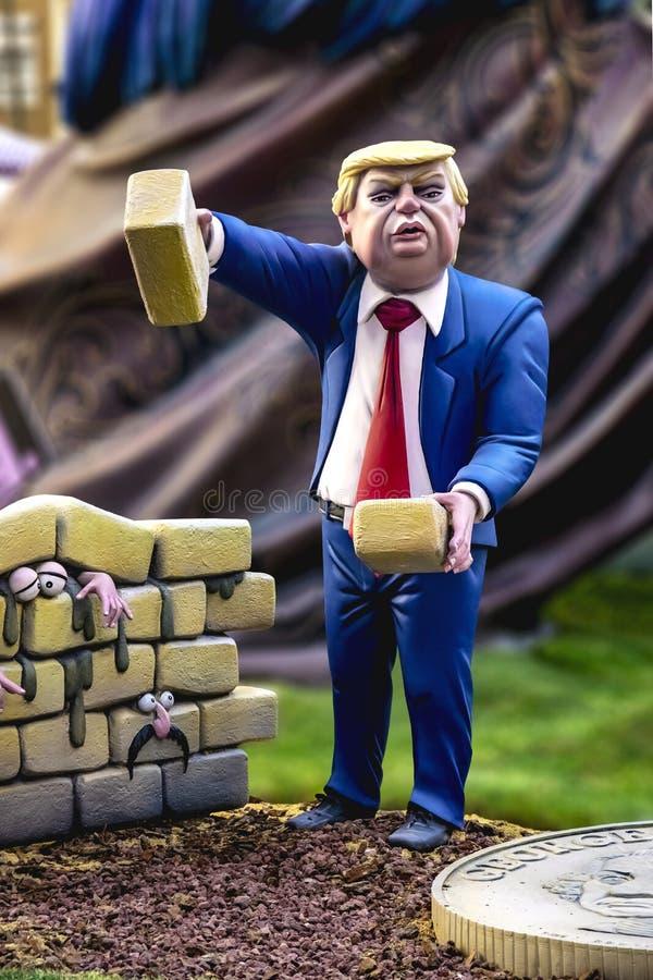 Donald Trump vägg arkivbilder