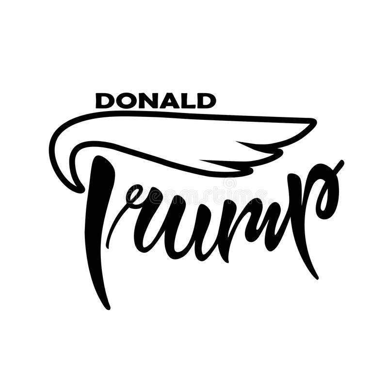 Donald trump. Vector illustration of Donald Trump text for posters, banners, blogs, newspapers, articles royalty free illustration