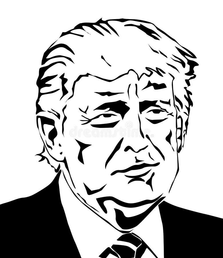 Donald Trump Vector Portrait illustration de vecteur