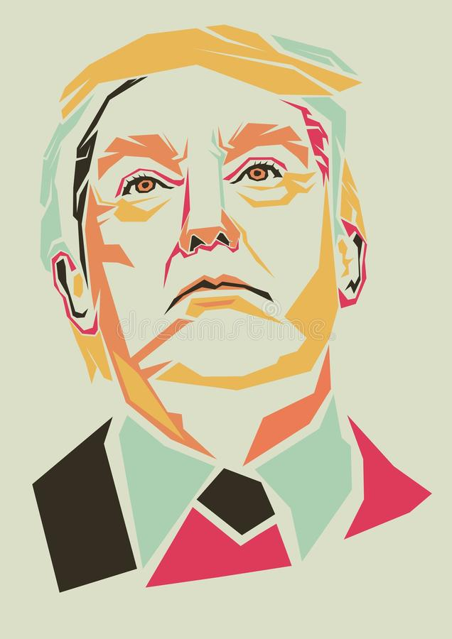 Donald Trump vector stock illustration