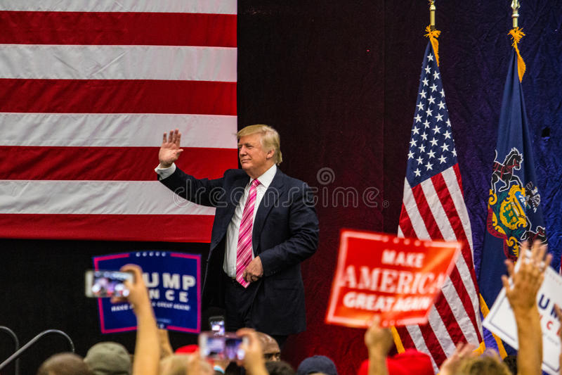 Donald Trump Waving photos libres de droits