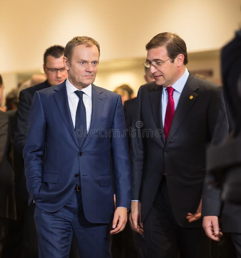 Donald Tusk przy nieformalnym UE szczytem zdjęcia stock