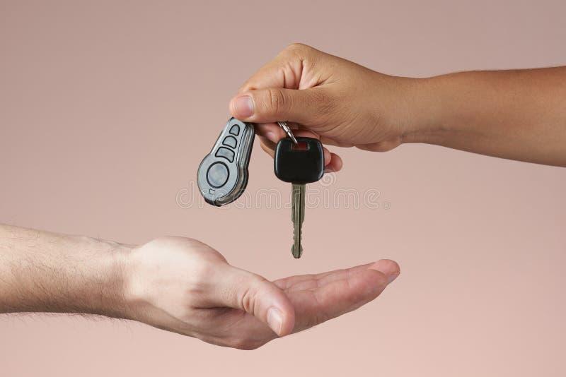 Donante de claves del coche fotos de archivo libres de regalías