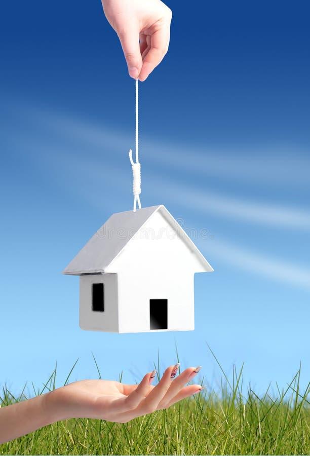 Donante de concepto de la nueva casa imagen de archivo libre de regalías