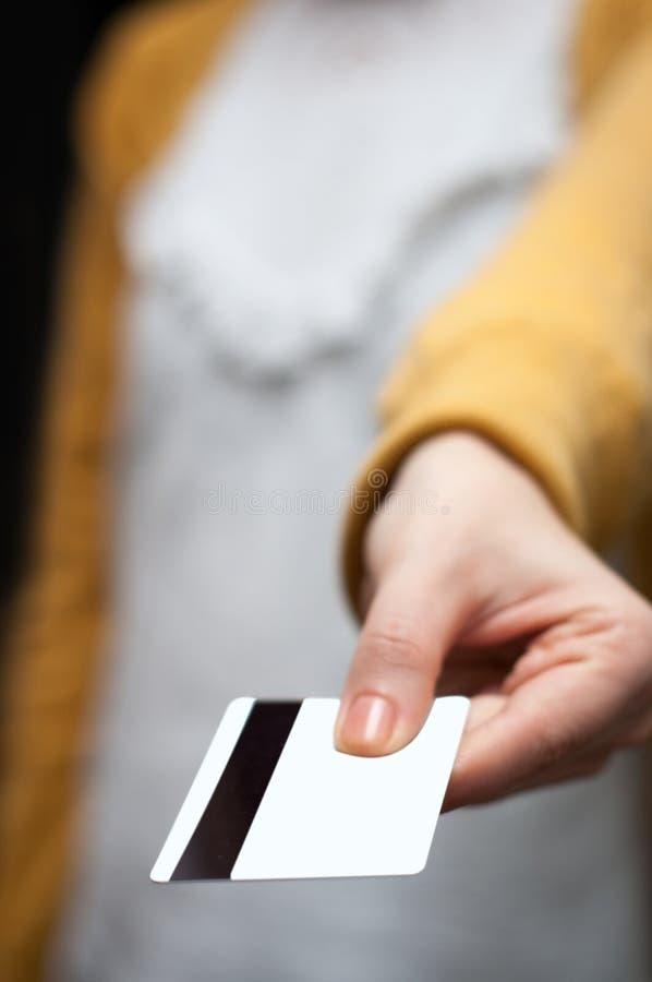 Donante de la tarjeta de crédito foto de archivo libre de regalías